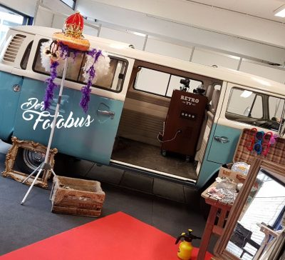 Der Fotobus in Ludwigshafen auf der Hochzeitsmesse TRAU 2018 Eventsnapper auf