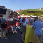 Eventsnapper auf fdp wahlstand in mannheim