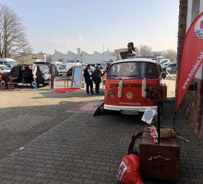 Der Fotobus und andere Fotoboxen auf der HochzeitsmesseWorms Eventsnapper auf hochzeitsmesseworms
