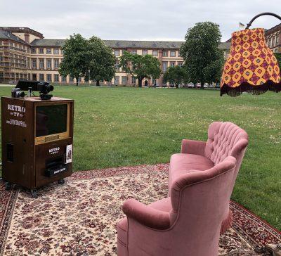 Livingroom bei RADIOAKTIV vor der Mensa in der Universität Mannheim Eventsnapper auf universität mannheim