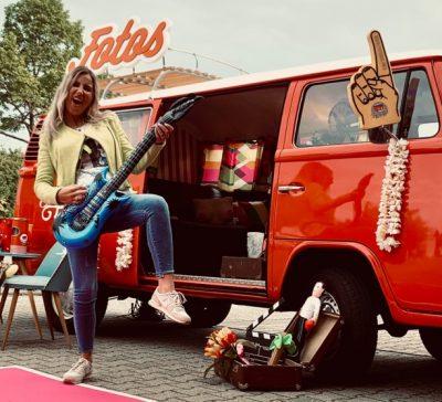 Fotobus bei der Trendfabrik in Brühl bei der Ladysnight Eventsnapper auf