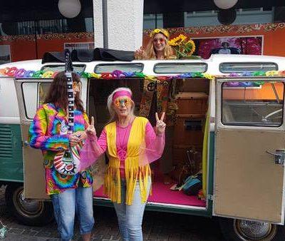 Fotobus VW T1 auf dem Woodstock Festival in Karlsruhe 17.08.2019 Eventsnapper auf